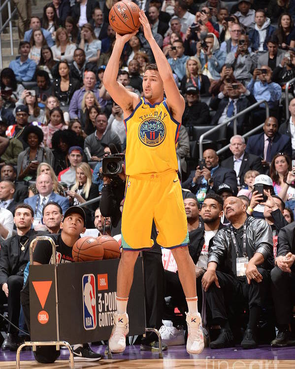 Event Poster featuring the photograph Klay Thompson by Andrew D. Bernstein