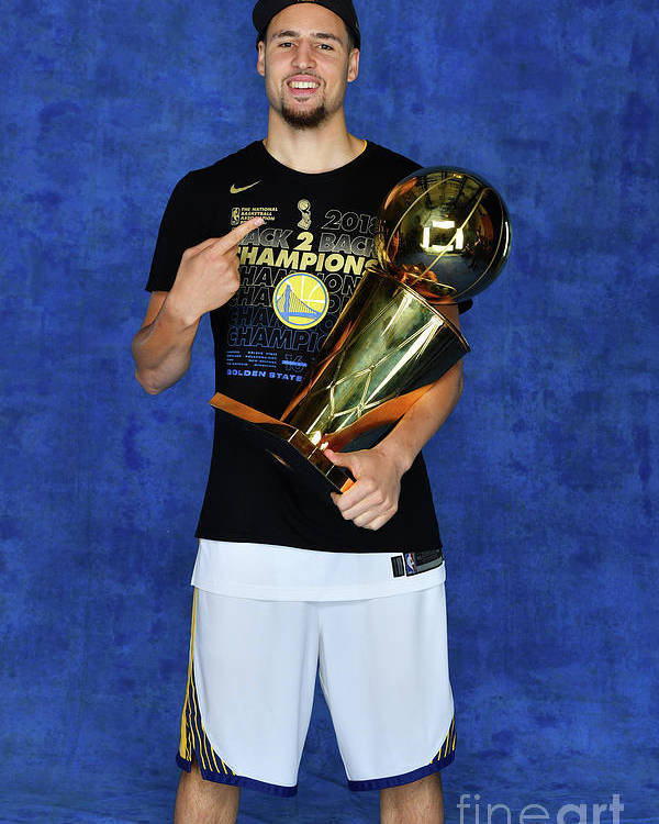 Playoffs Poster featuring the photograph Klay Thompson by Jesse D. Garrabrant