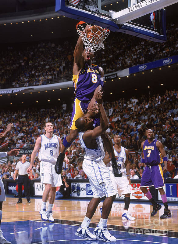 Nba Pro Basketball Poster featuring the photograph Kobe Bryant and Dwight Howard by Fernando Medina