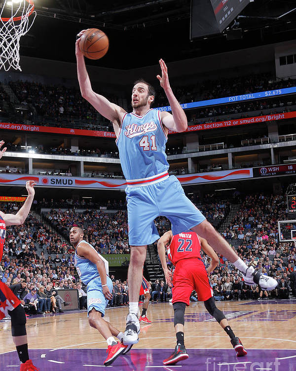 Nba Pro Basketball Poster featuring the photograph Kosta Koufos by Rocky Widner
