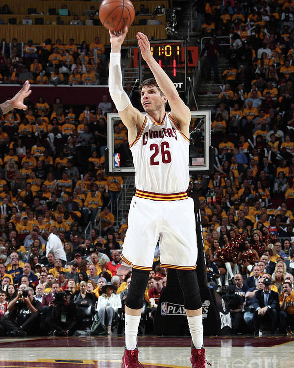 Playoffs Poster featuring the photograph Kyle Korver by Nathaniel S. Butler