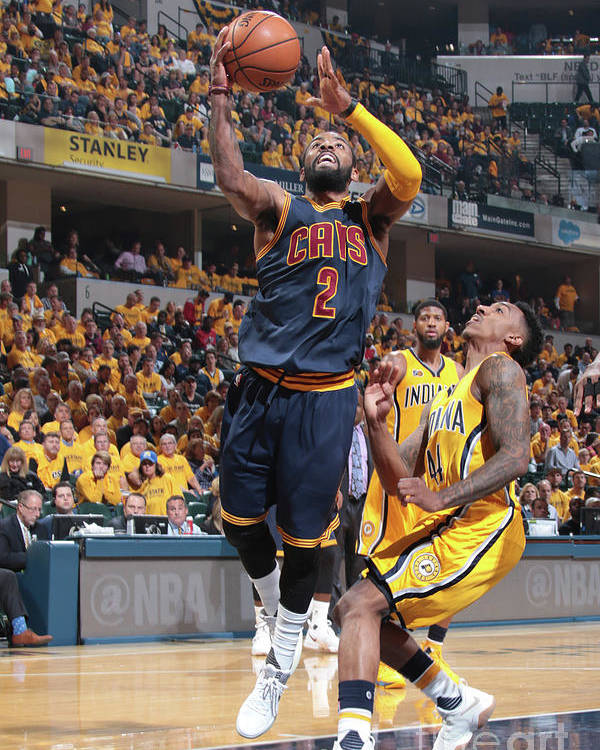 Playoffs Poster featuring the photograph Kyrie Irving by Ron Hoskins