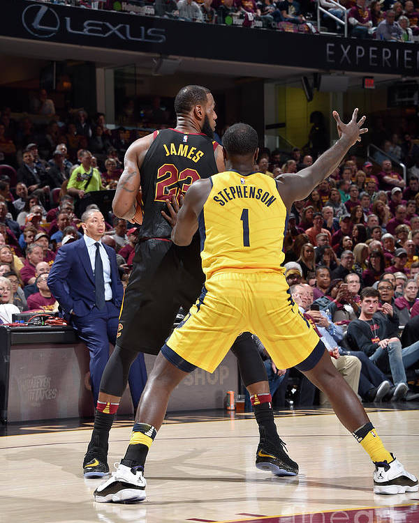 Playoffs Poster featuring the photograph Lance Stephenson and Lebron James by David Liam Kyle