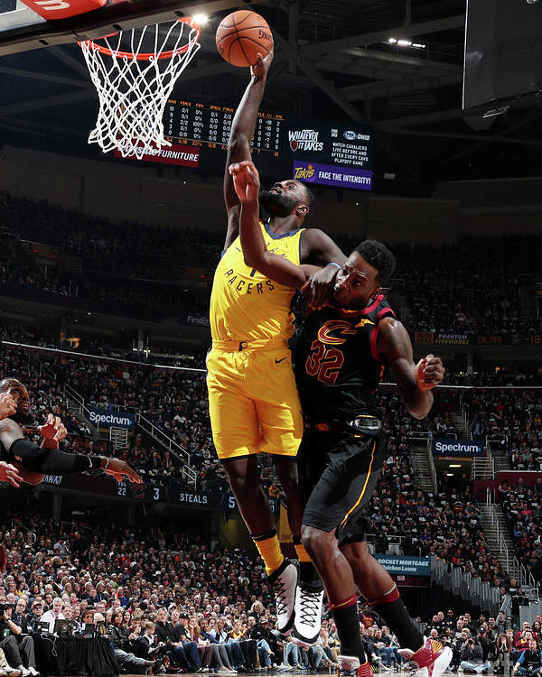 Playoffs Poster featuring the photograph Lance Stephenson by Nathaniel S. Butler