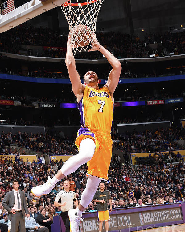 Nba Pro Basketball Poster featuring the photograph Larry Nance by Andrew D. Bernstein