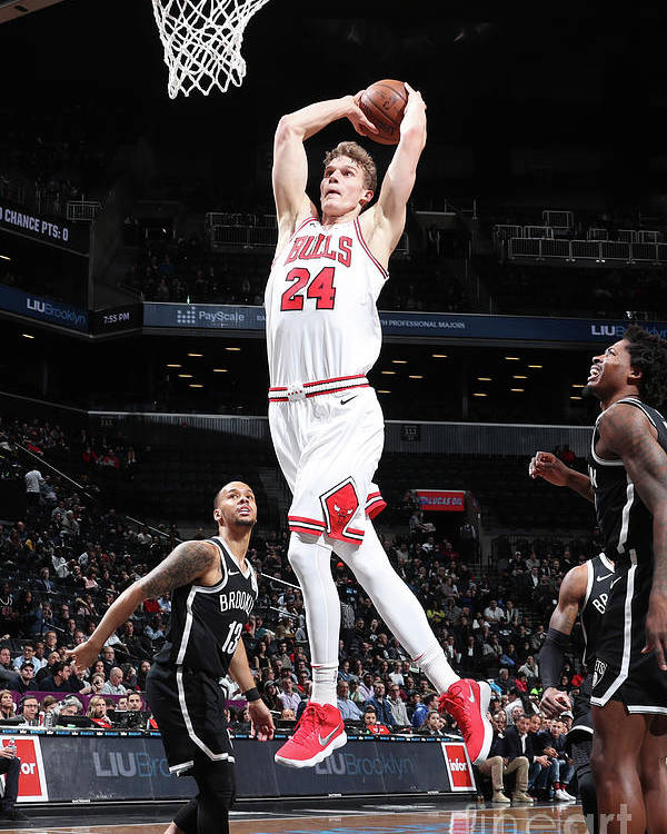 Chicago Bulls Poster featuring the photograph Lauri Markkanen by Nathaniel S. Butler