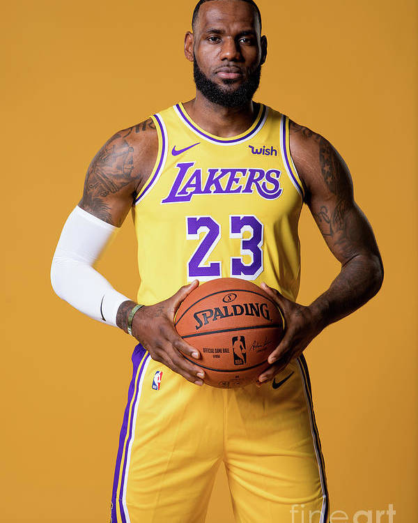 Media Day Poster featuring the photograph Lebron James by Atiba Jefferson