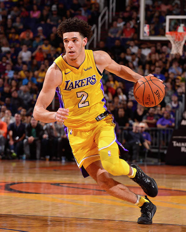 Nba Pro Basketball Poster featuring the photograph Lonzo Ball by Barry Gossage