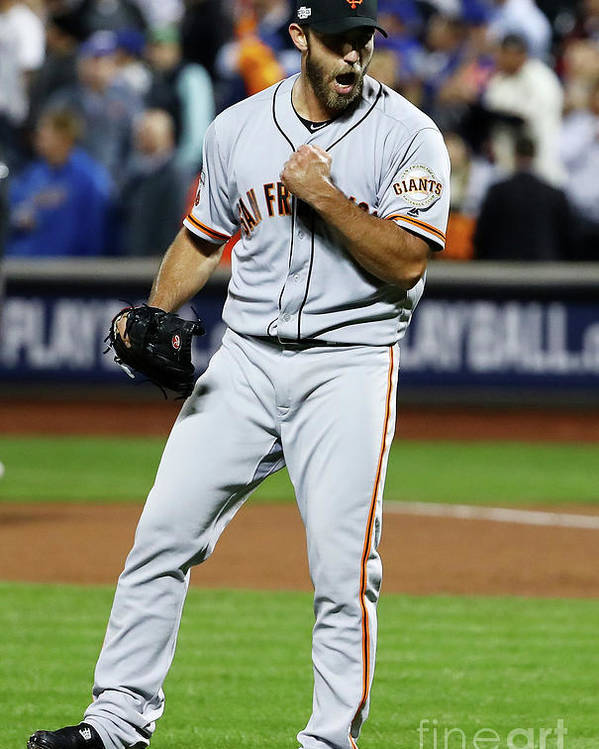 Playoffs Poster featuring the photograph Madison Bumgarner by Al Bello