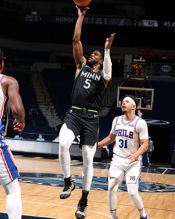 Nba Pro Basketball Poster featuring the photograph Malik Beasley by David Sherman
