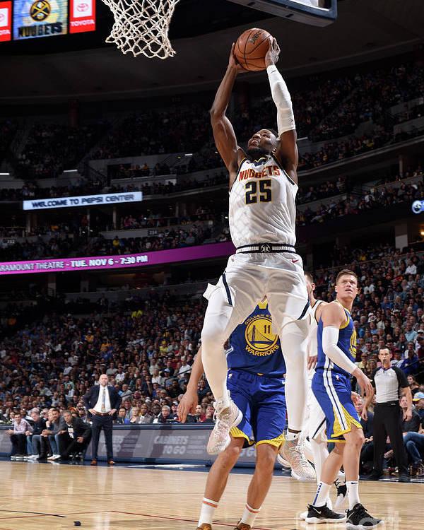 Nba Pro Basketball Poster featuring the photograph Malik Beasley by Garrett Ellwood