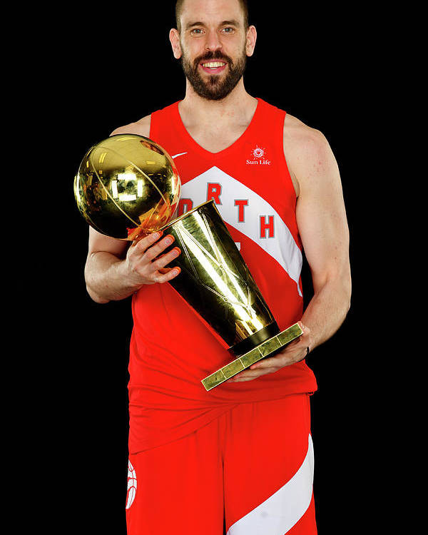 Playoffs Poster featuring the photograph Marc Gasol by Jesse D. Garrabrant