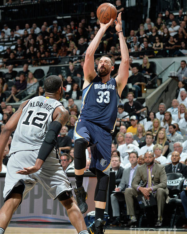 Playoffs Poster featuring the photograph Marc Gasol by Mark Sobhani