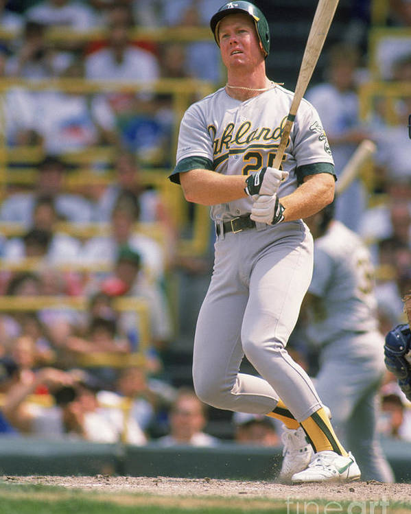 1980-1989 Poster featuring the photograph Mark Mcgwire by Ron Vesely