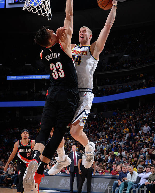 Playoffs Poster featuring the photograph Mason Plumlee by Bart Young