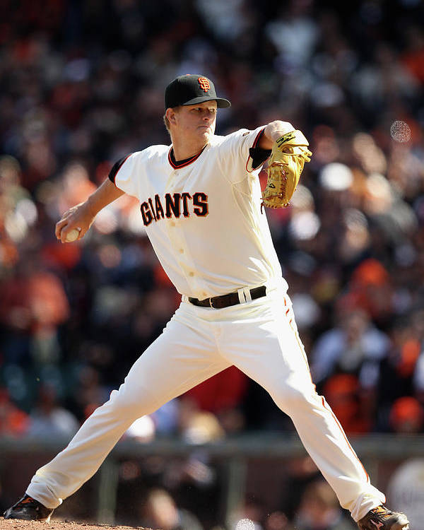 San Francisco Poster featuring the photograph Matt Cain by Ezra Shaw
