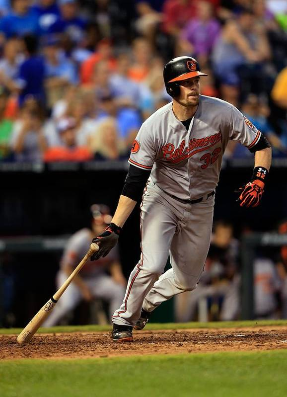 American League Baseball Poster featuring the photograph Matt Wieters by Jamie Squire