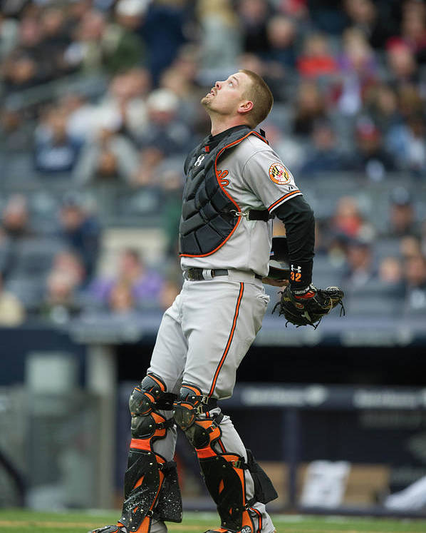 East Poster featuring the photograph Matt Wieters by Rob Tringali