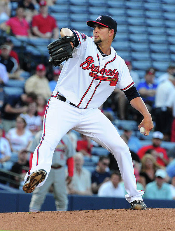 Atlanta Poster featuring the photograph Mike Minor by Scott Cunningham