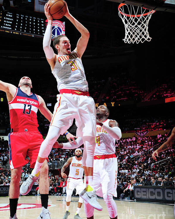 Atlanta Poster featuring the photograph Mike Muscala by Scott Cunningham