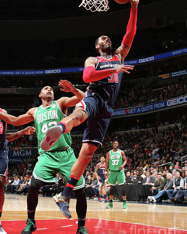 Nba Pro Basketball Poster featuring the photograph Mike Scott by Ned Dishman
