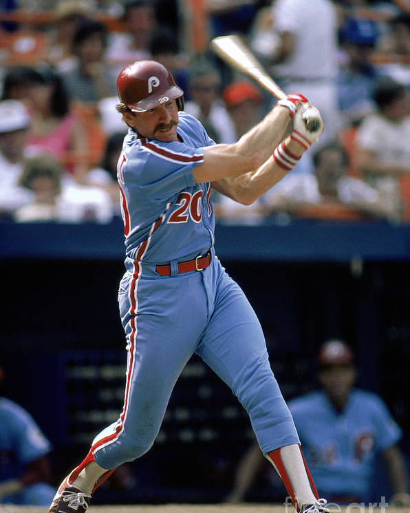 Mike Schmidt Poster featuring the photograph Mike York by Mlb Photos