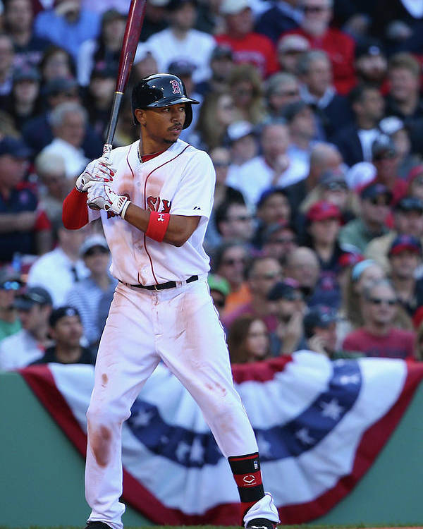 People Poster featuring the photograph Mookie Betts by Maddie Meyer