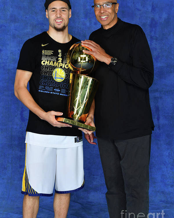 Playoffs Poster featuring the photograph Mychal Thompson and Klay Thompson by Jesse D. Garrabrant