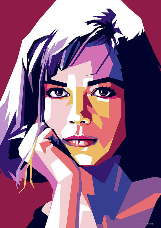 Natalie Poster featuring the digital art Natalie Wood by Stars on Art