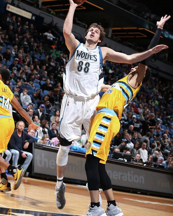Nba Pro Basketball Poster featuring the photograph Nemanja Bjelica by David Sherman