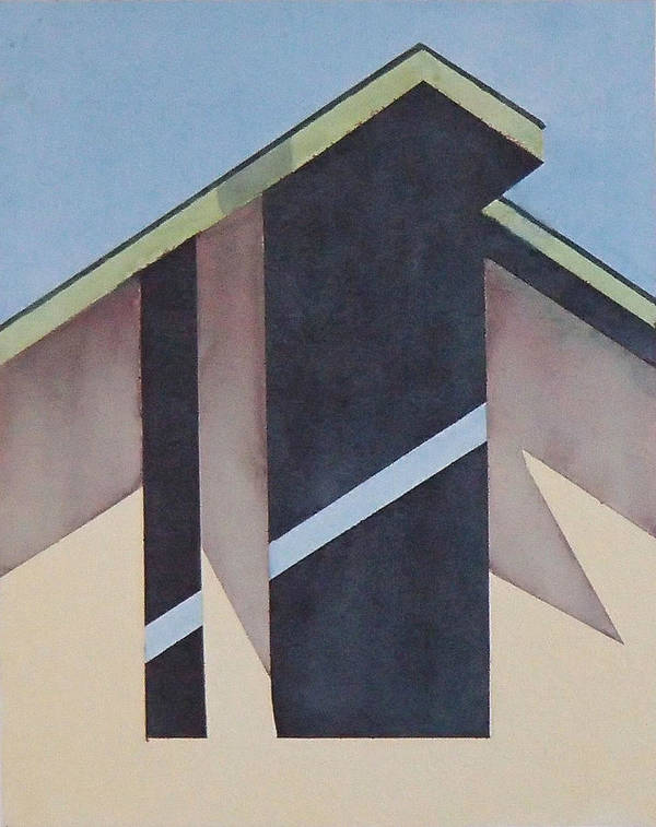 Barn Poster featuring the painting Nipomo Barn by Philip Fleischer