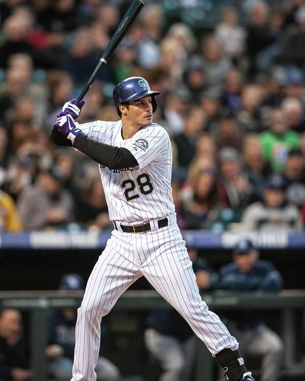 National League Baseball Poster featuring the photograph Nolan Arenado by Dustin Bradford