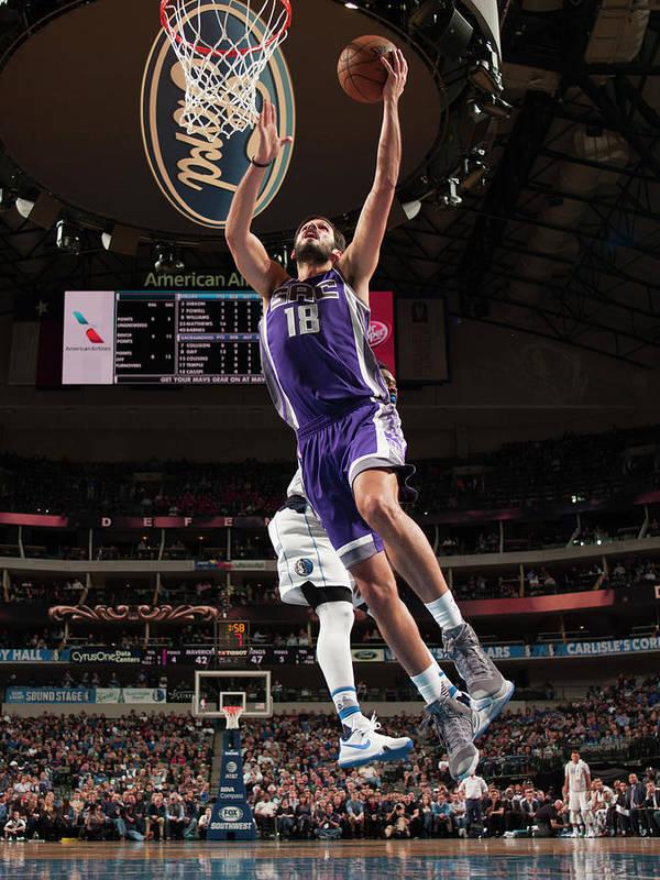 Nba Pro Basketball Poster featuring the photograph Omri Casspi by Glenn James