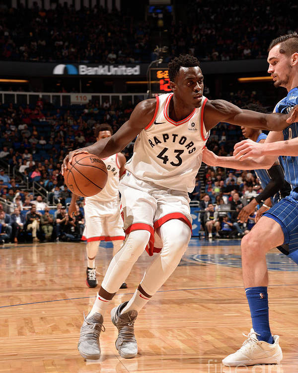 Nba Pro Basketball Poster featuring the photograph Pascal Siakam by Gary Bassing
