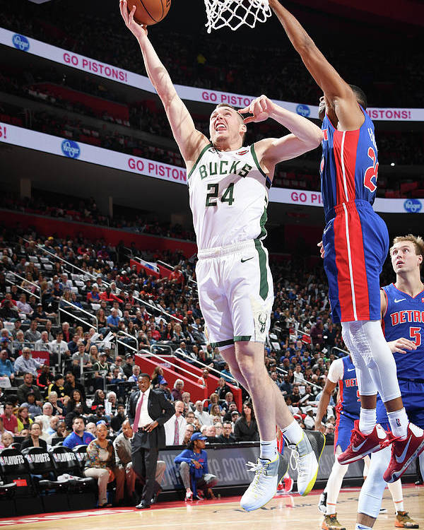 Playoffs Poster featuring the photograph Pat Connaughton by Chris Schwegler
