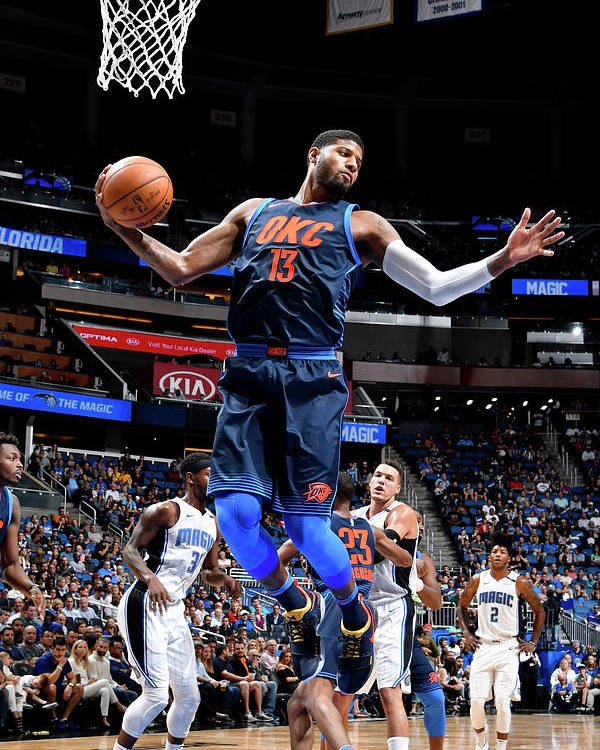 Nba Pro Basketball Poster featuring the photograph Paul George by Fernando Medina