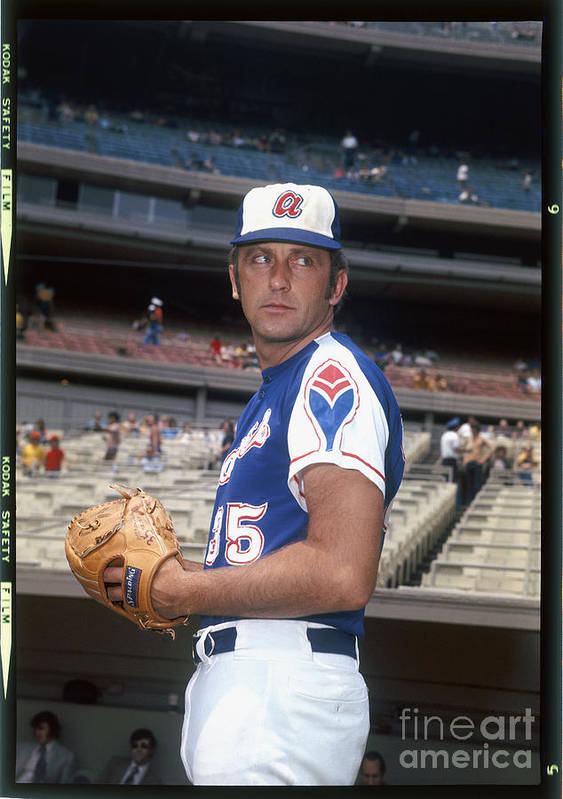 Baseball Pitcher Poster featuring the photograph Phil Niekro by Louis Requena