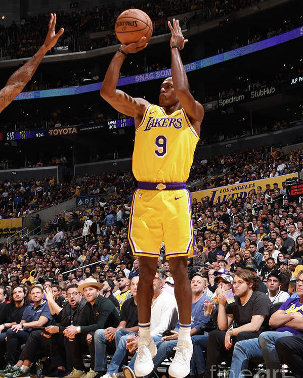 Nba Pro Basketball Poster featuring the photograph Rajon Rondo by Andrew D. Bernstein