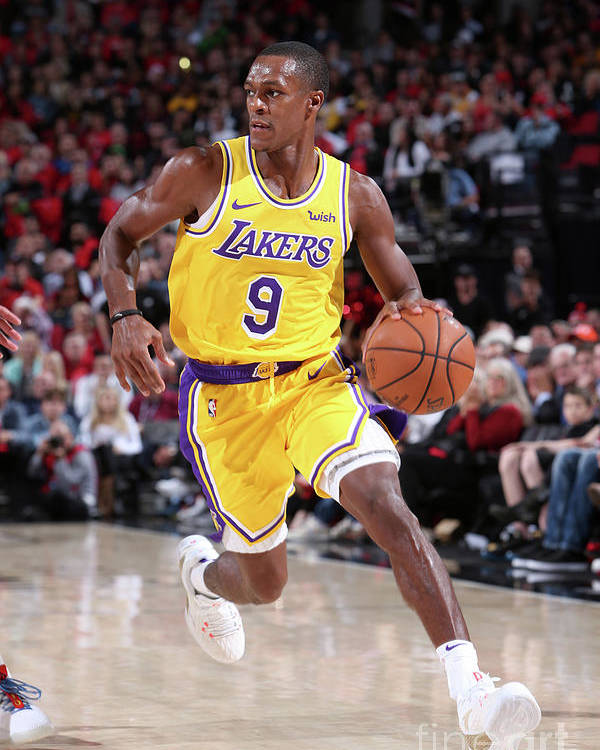 Nba Pro Basketball Poster featuring the photograph Rajon Rondo by Sam Forencich