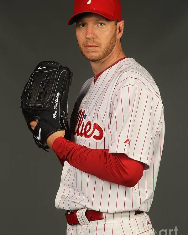 Media Day Poster featuring the photograph Roy Halladay by Nick Laham