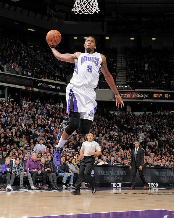 Nba Pro Basketball Poster featuring the photograph Rudy Gay by Rocky Widner