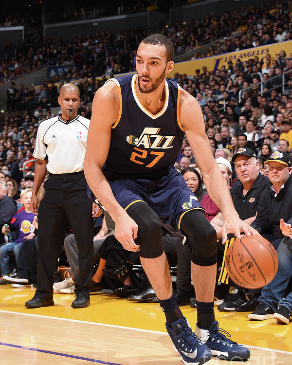 Nba Pro Basketball Poster featuring the photograph Rudy Gobert by Andrew D. Bernstein