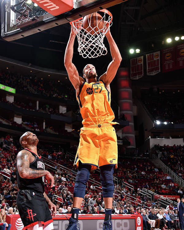 Nba Pro Basketball Poster featuring the photograph Rudy Gobert by Bill Baptist
