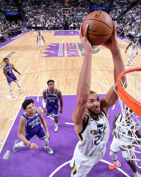 Nba Pro Basketball Poster featuring the photograph Rudy Gobert by Rocky Widner