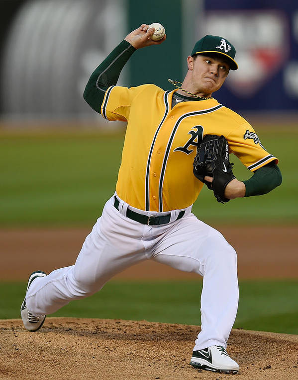 American League Baseball Poster featuring the photograph Sonny Gray by Thearon W. Henderson