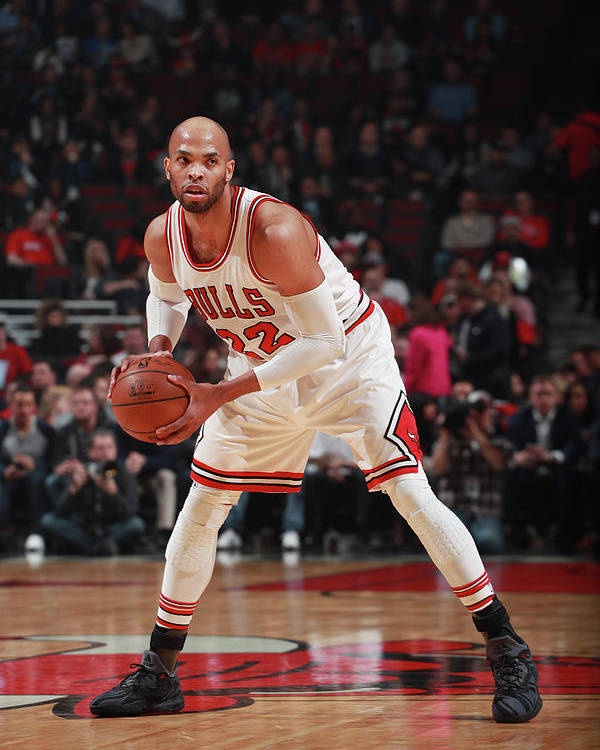 Nba Pro Basketball Poster featuring the photograph Taj Gibson by Jeff Haynes