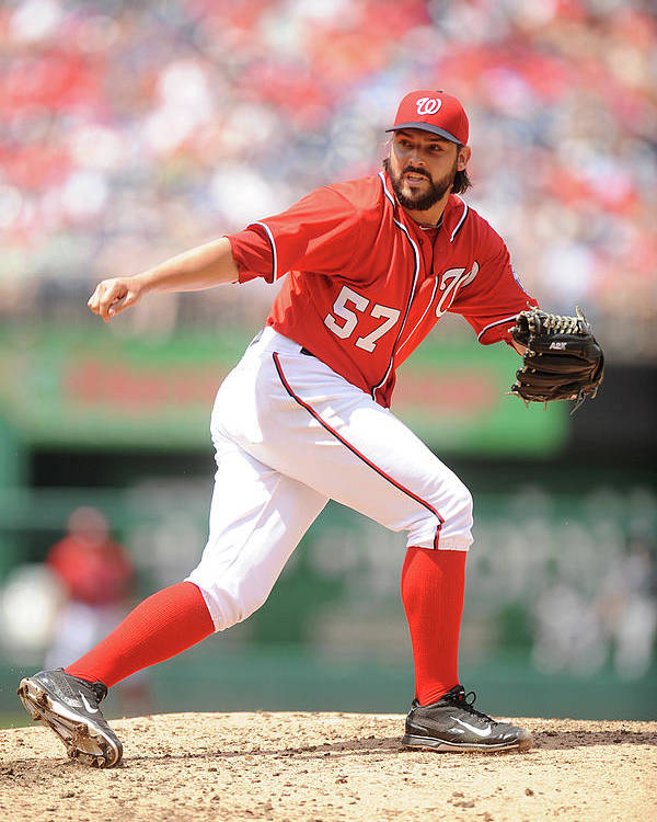 Baseball Pitcher Poster featuring the photograph Tanner Roark by Mitchell Layton