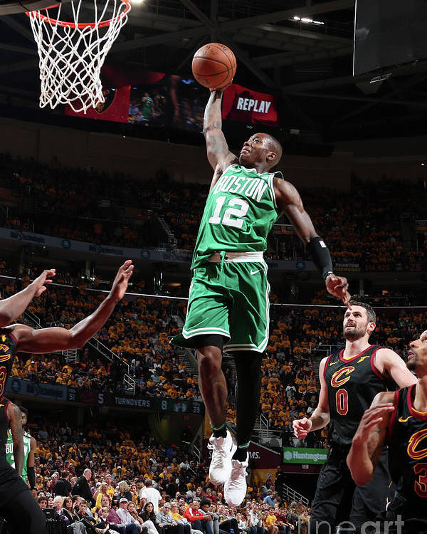 Playoffs Poster featuring the photograph Terry Rozier by Nathaniel S. Butler