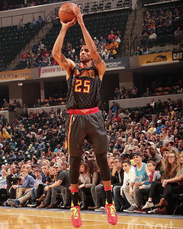 Nba Pro Basketball Poster featuring the photograph Thabo Sefolosha by Ron Hoskins