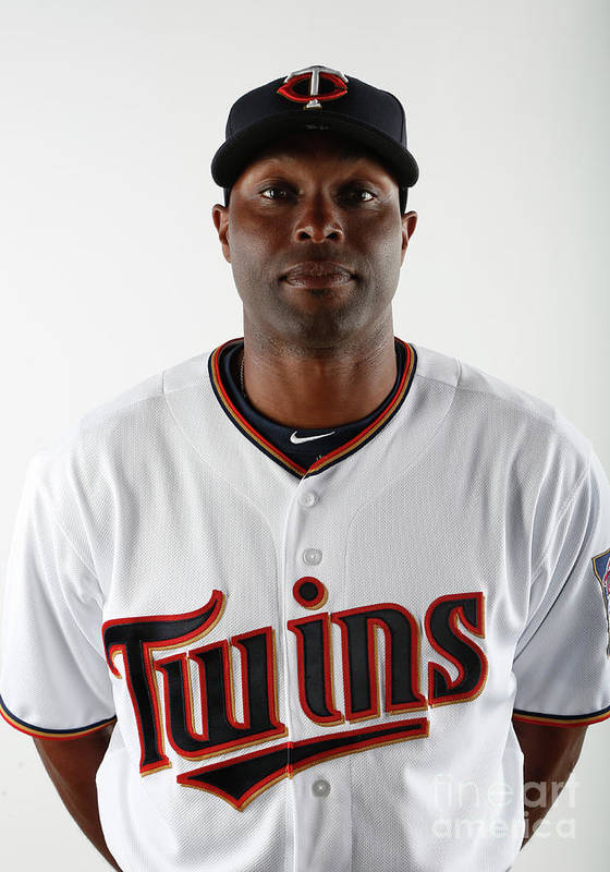 Media Day Poster featuring the photograph Torii Hunter by Brian Blanco